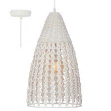 Tovi hanglamp white wash rotan H 6972 W  190 cm