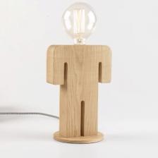 Adam tafellamp man 24cm 1x E27 hout 05-TL3288-73