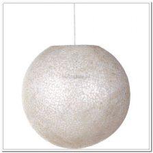 Apollo Bal hanglamp 1 licht White capiz shell Wangi White doorsnede 50 cm