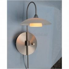 Best wandlamp staal met dimmer