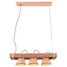 Hanglamp Vintage Jesse roze 3l