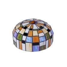 Iglo tiffanykap nikkel mat met Tiffany glas Color 1-lichts Gph1.10 11 cm