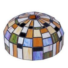 Iglo tiffanykap nikkel mat met Tiffany glas Color 1-lichts Gph2.10 14 cm