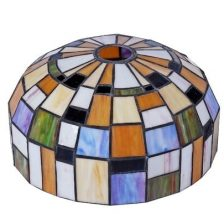 Iglo tiffanykap nikkel mat met Tiffany glas Color 1-lichts  Gph3.10 19 cm