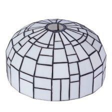 Iglo tiffanykap zwart met Tiffany glas  1-lichts Gph2 27 cm