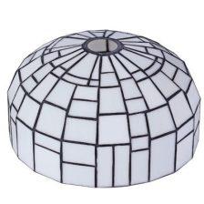 Iglo tiffanykap zwart met Tiffany glas  1-lichts Gph3 19 cm