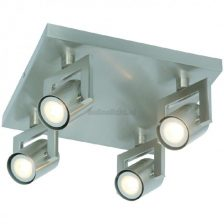 LED spot Vablo staalkleur PL 9944 S   4 lichts dimbaar