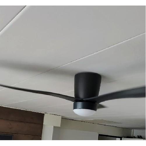 Plafondventilator Cetus antraciet met lamp F 5801 a OP VOORRAAD