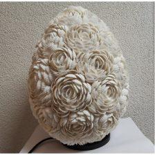 Schelpen tafellamp roosjes Ei