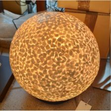 Tafellamp vloerlamp Wangi wit Staande bol 30 cm