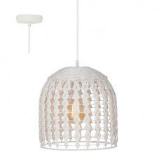 Tovi hanglamp white wash rotan H 6973 W  175 cm