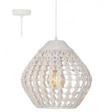 Tovi hanglamp white wash rotan H 6974 W  175 cm