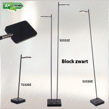Vloerlamp Block blok led 5W met dimmer zwart s 2320 z